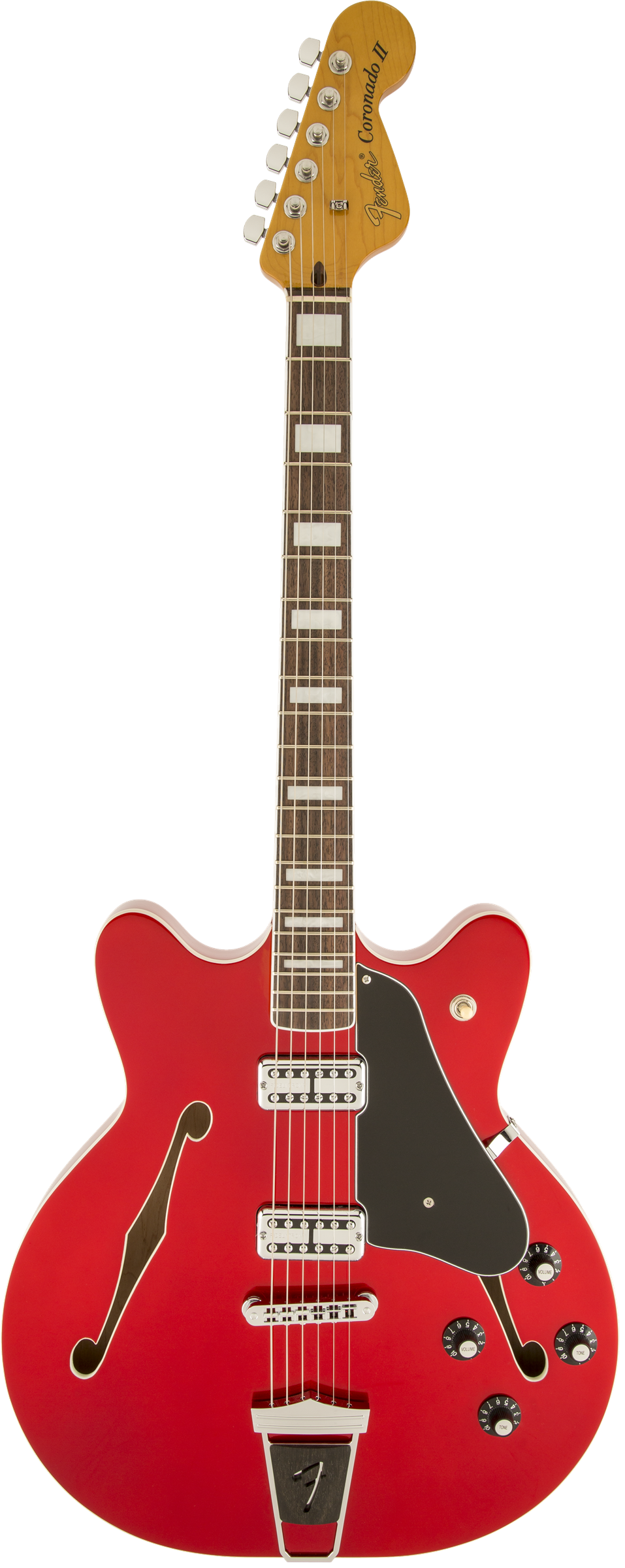 Полуакустическая электрогитара Fender Coronado Guitar, Candy Apple Red, Rosewood