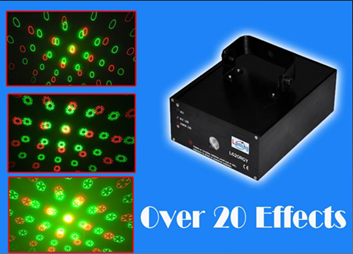 Phoenix Lighting PHE009 150mW Multi Twinkling Effects Laser Light