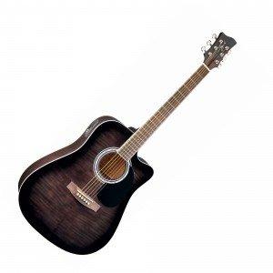 Электроакустическая гитара JAY TURSER JJ45FCET-BKSB