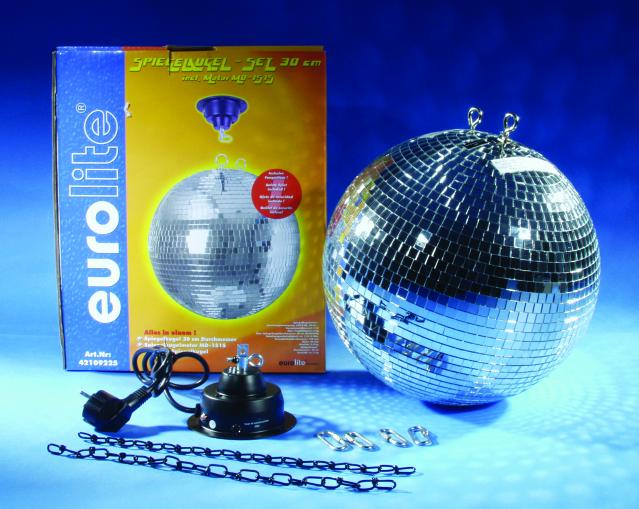 Зеркальный шар Eurolite Mirror ball 30cm, with motor MD-1515